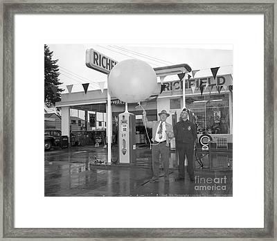 Richfield Station Opening  Framed Print