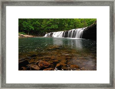 Richland Creek Falls Framed Print by Kurt Jones