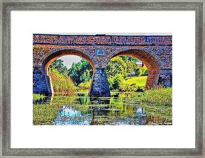 Framed Print featuring the photograph Richmond Bridge by Wallaroo Images