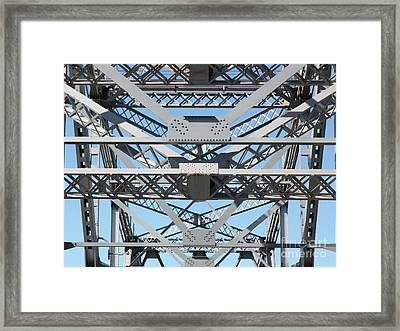 Richmond-san Rafael Bridge In California - 5d21452 Framed Print by Wingsdomain Art and Photography