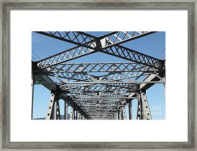 Richmond-san Rafael Bridge In California - 5d21454 Framed Print