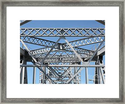 Richmond-san Rafael Bridge In California - 5d21458 Framed Print