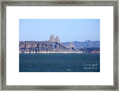 Richmond-san Rafael Bridge In California 5d29480 Framed Print
