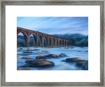 Richmond Train Trestle Framed Print