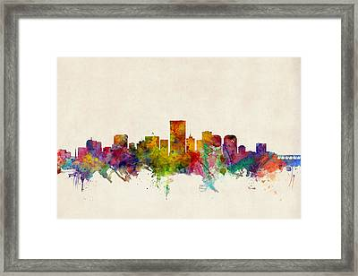 Richmond Virginia Skyline Framed Print
