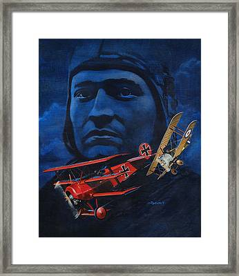 Richthofen And Brown Framed Print by Richard De Wolfe