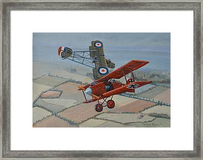 Richtofen And Hawker Combat Framed Print by Murray McLeod