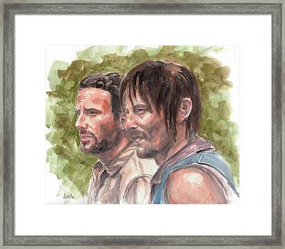 Rick Grimes And Daryl Dixon Framed Print by Drusilla Kehl