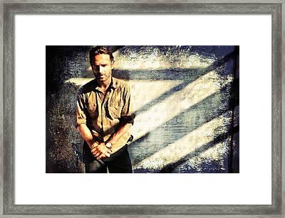 Rick Grimes The Walking Dead 2 Framed Print by Janice MacLellan