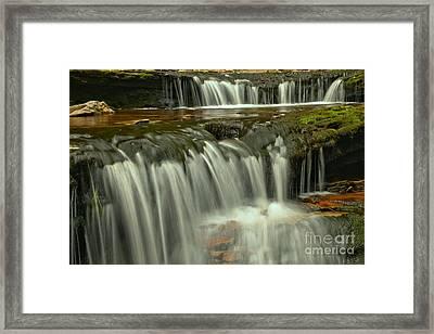 Ricketts Glen Cascade Closeup Framed Print by Adam Jewell