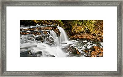 Ricketts Glen - On Top Of The Fall Framed Print