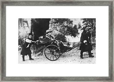 Rickshaw Transportation Framed Print by Underwood Archives