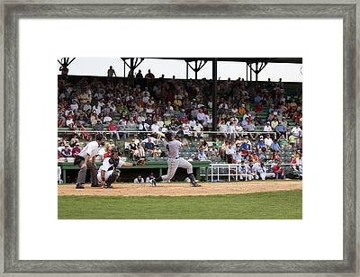 Rickwood Field Classic Game In Birmingham Framed Print