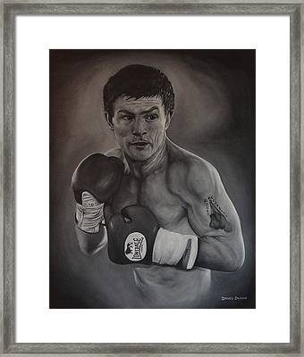 Ricky Hatton Framed Print by David Dunne