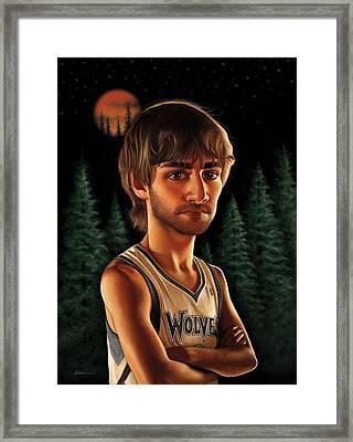 Ricky Rubio Framed Print by Derek Wehrwein
