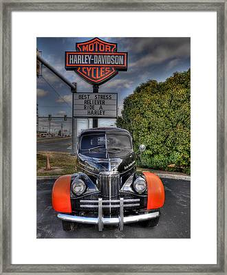 Ride A Harley Framed Print by Todd Hostetter