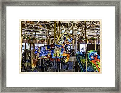Ride A Painted Pony - Coney Island 2013 - Brooklyn - New York Framed Print