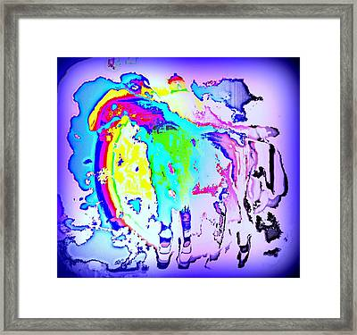 If You Can't Ride A Rainbow  Framed Print by Hilde Widerberg