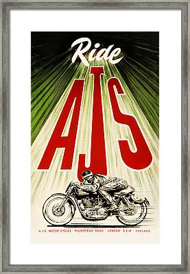 Ride Ajs Framed Print by Mark Rogan
