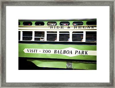 Ride And Relax San Francisco Street Car Framed Print by SFPhotoStore