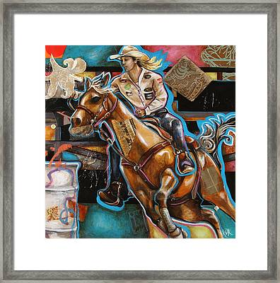 Ride Baby Ride Framed Print