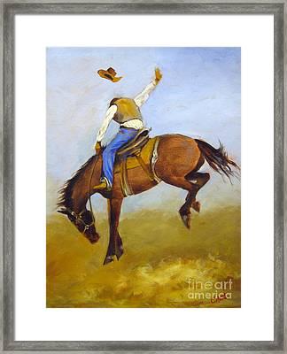 Ride 'em Cowboy Framed Print by Carol Hart