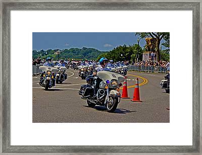 Ride For Veterans Framed Print