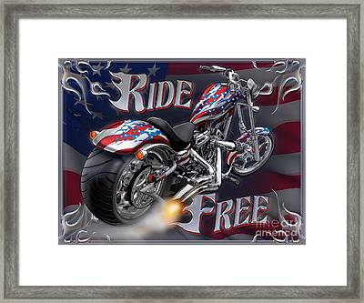 Ride Free Framed Print by JQ Licensing