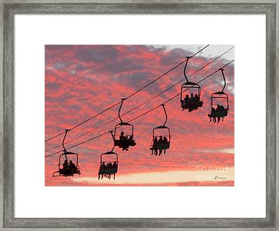 Ride Into The Sunset Framed Print by Jennie Breeze