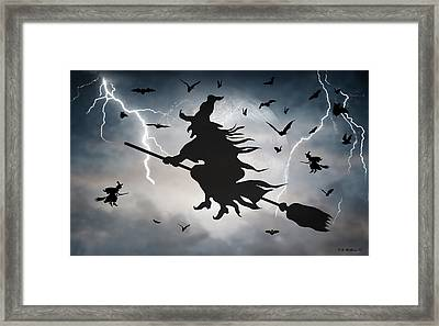 Ride Like Lighting Framed Print