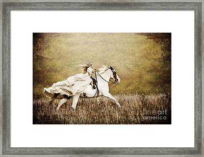Ride Like The Wind Framed Print