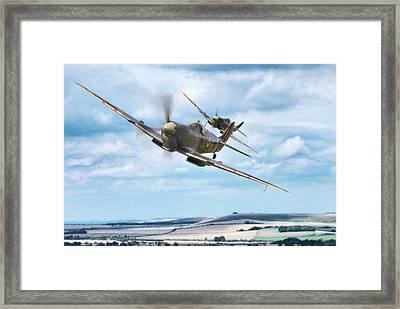 Ride Like The Wind Framed Print
