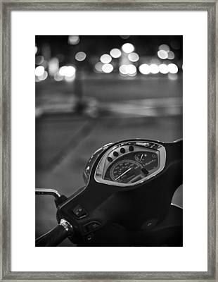 Ride Me Through The City Framed Print by Pablo Lopez