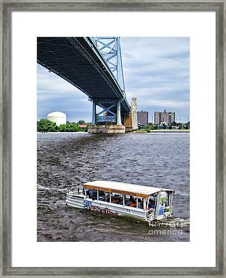 Ride The Ducks Framed Print by Olivier Le Queinec