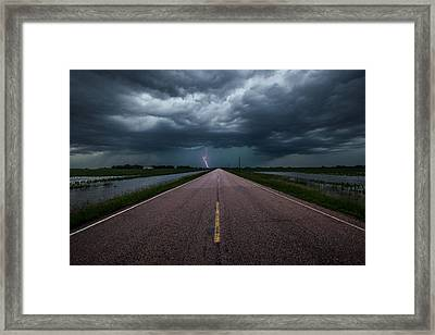 Ride The Lightning Framed Print by Aaron J Groen