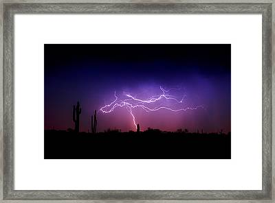 Ride The Lightning  Framed Print