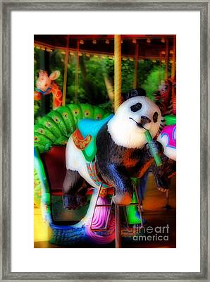 Ride The Panda Framed Print