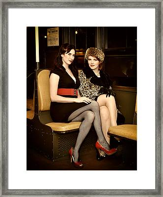 Framed Print featuring the photograph Ride The Pinup Express 4 by Jim Poulos