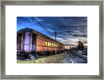 Ride The Rails Framed Print by Andrew Pacheco