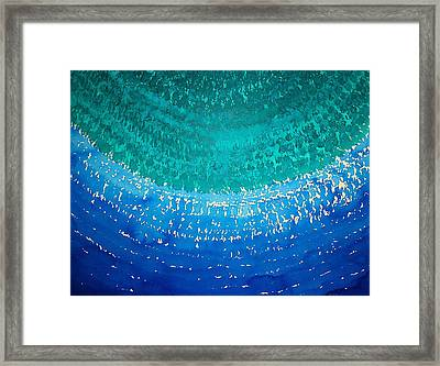 Ride The Wave Original Painting Framed Print by Sol Luckman