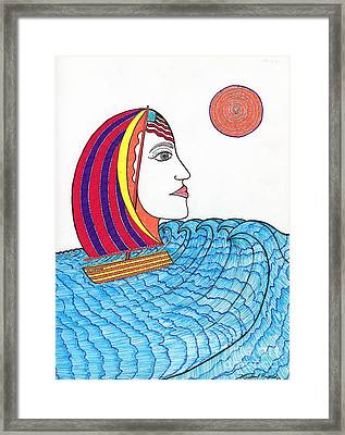 Ride The Waves My Lady On The Bay                                           Framed Print by Michael Friend