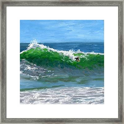 Ride The Wild Wedge Framed Print