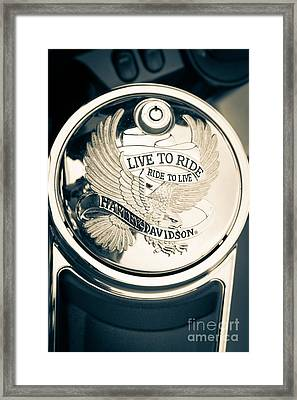 Ride To Live Framed Print
