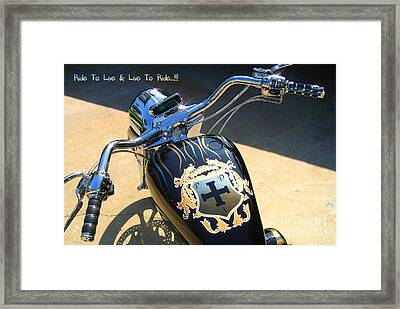 Ride To Live  Framed Print by Phillip Allen