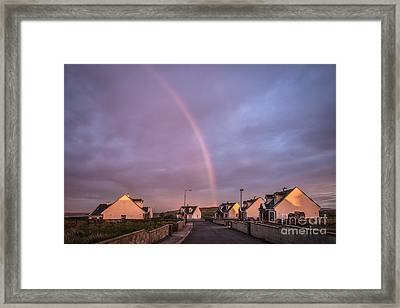 Ride To The Rainbow's End Framed Print