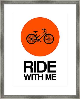 Ride With Me Circle Poster 1 Framed Print by Naxart Studio