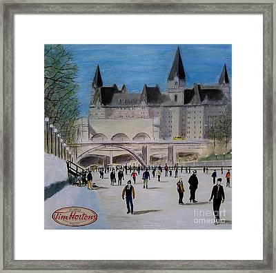 Rideau Canal Winterlude Framed Print