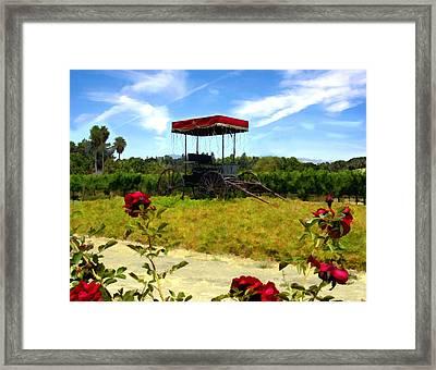 Rideau Vineyards Solvang California Framed Print by Kurt Van Wagner