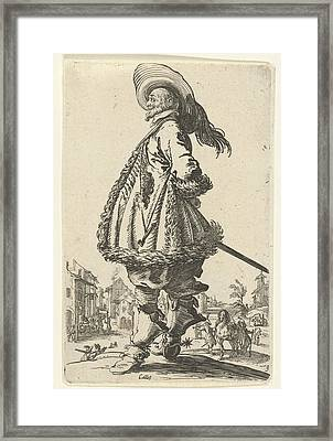 Rider With Plumed Hat, Anonymous Framed Print by Anonymous