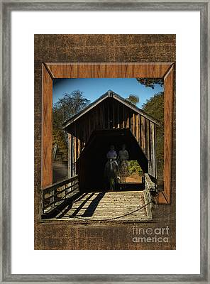Riders From The Pass Framed Print by Donna Brown